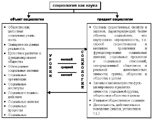 Социология в системе социальных и